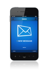 New message on mobile phone