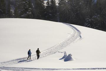 Paar bei einer Winterwanderung