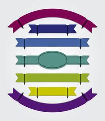 Modern colourful ribbons - blank