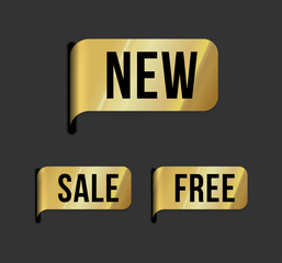 Modern  label – new, sale, free