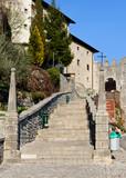 Castelmonte  sanctuary staircase, Cividale del Friuli. Udine, It poster