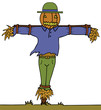 Pumpkin Head Scarecrow