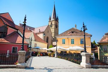 Historical architecture in Sibiu.Transylvania, Romania .