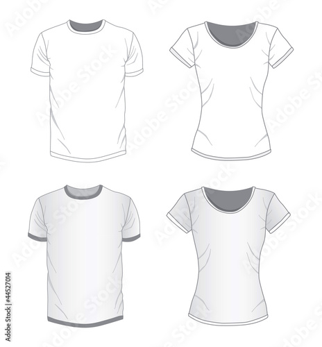 Vector. Men's and women's shirt design templates.