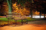 Bench in evening