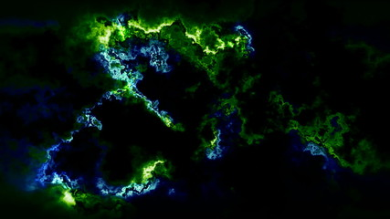 loopable acid glowing abstract motion background