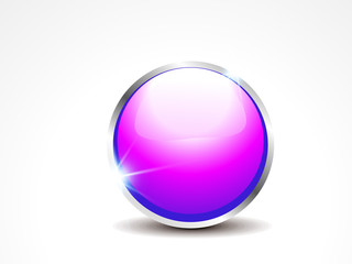 abstract glossy web button