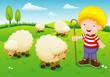 illustration little shepherd vector