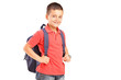 A school boy with backpack