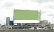 green empty billboard