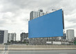 blue empty billboard