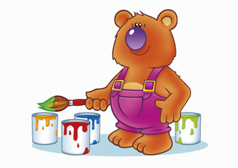teddy bear painter