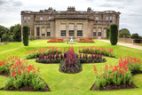 Formal gardens of Lyme Hall,  Cheshire, England.