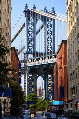Manhattan Bridge and Empire State Building, New York