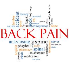 Back Pain Word Cloud Concept