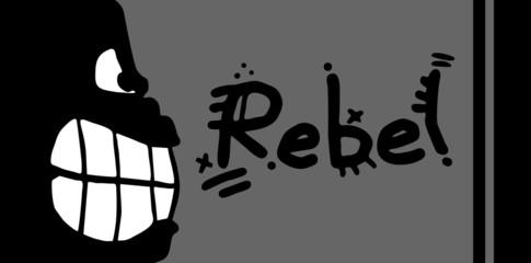 Rebel animal card