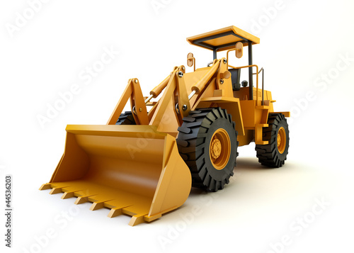 Front end loader isolated on white