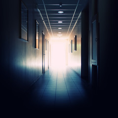 Office building corridor