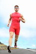 Triathlete running man