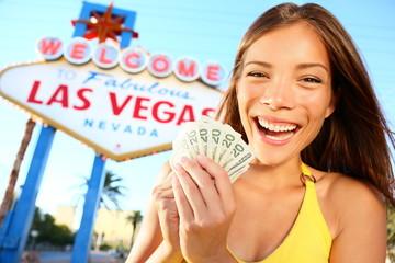 Las Vegas Girl Excited