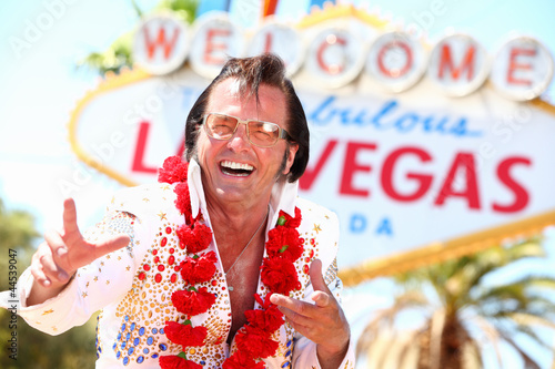 Poster Las Vegas Elvis impersonator