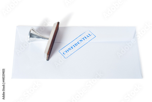 envelope with confidential stamp on it