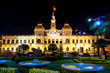 Night view at the City Hall of Ho Chi Minh City in Vietnam