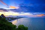 Fototapety sun set time at Hua-Hin beach in Thailand