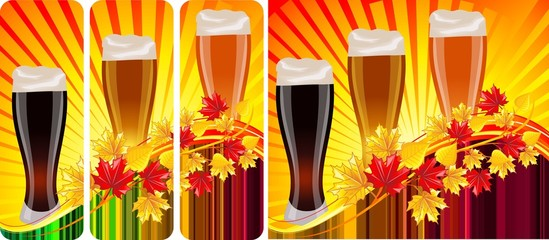 Vector set - beer