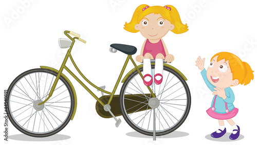 Kids on a bike