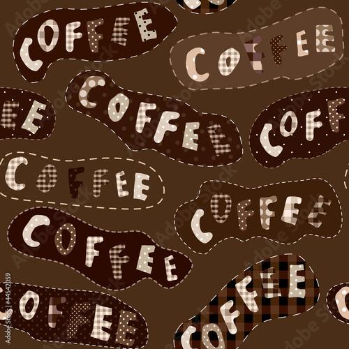 Obraz na płótnie wzór kawy