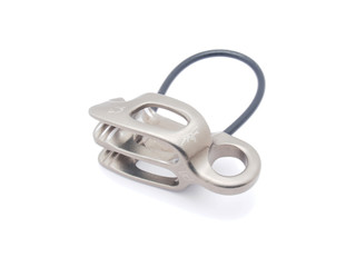 climbing carabiner on a white background