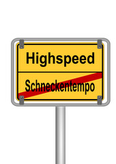 Highspeed vs Schneckentempo
