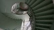 Spiral stairs hall abstract point of view from down