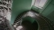 Grunge spiral staircase in old, abandoned building