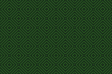 Painted Green Diamond Pattern