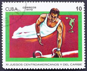 Postage stamp Cuba 1970 Gymnastics