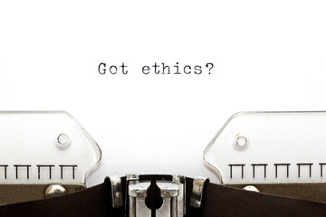 Typewriter Got Ethics
