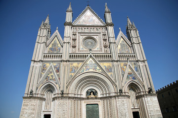 Shining facade of the Duomo of Orvieto