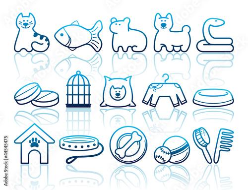 动物可爱的图像国内图标外形宠物小猫店铺形状打印插