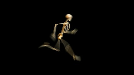 Runing skeleton w/alpha channel & also loopable