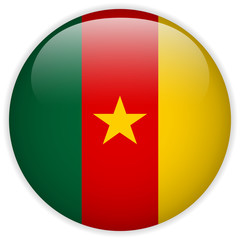 Cameroon Flag Glossy Button