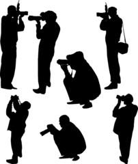 seven photographer silhouettes