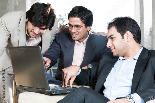 group of multi ethnic businessmen