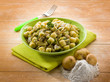 homemade gnocchi with artichoke,vegetarian food