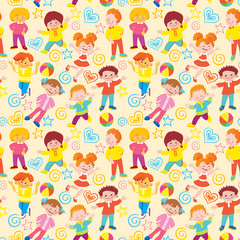 Seamless children pattern.