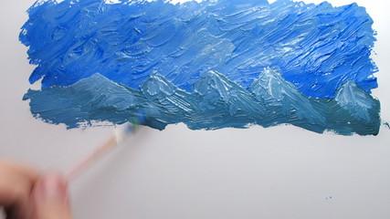 timelapse painting landscape