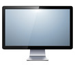 lcd tv monitor isolated - 44551251