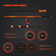Set of loading bars - vector web elements