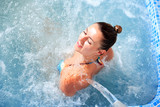 Fototapety spa hydrotherapy woman waterfall jet